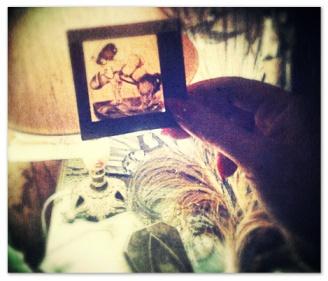 Old funny erotic slides for Lanterna Magica I found at the Geneva flea market!