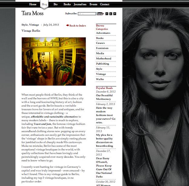 Tara Moss Blog