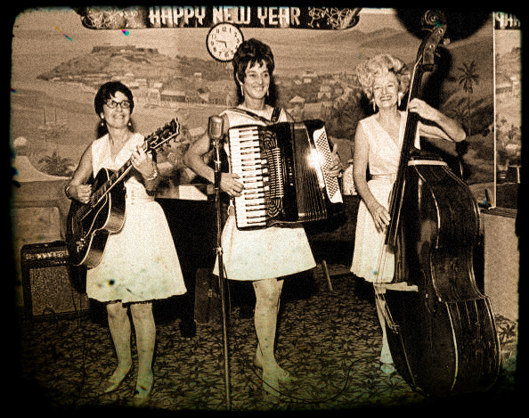 All female band performing at New Year's celebration - Fort Lauderdale 1969