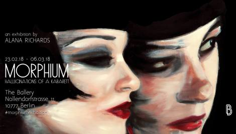 1920s Weimar Berlin inspired art exhibition 'MORPHIUM: Hallucinations of a Kabarett' by Alana Richards